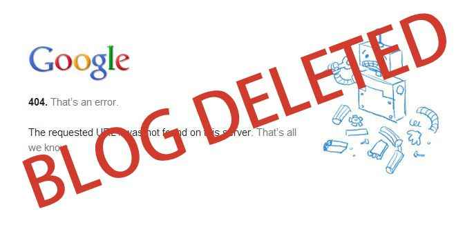 10 Reasons that Cause Blogger Blog Deleted By Google