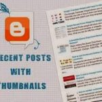 How to Add Recent Post Widget with Thumbnails in Blogger Blog