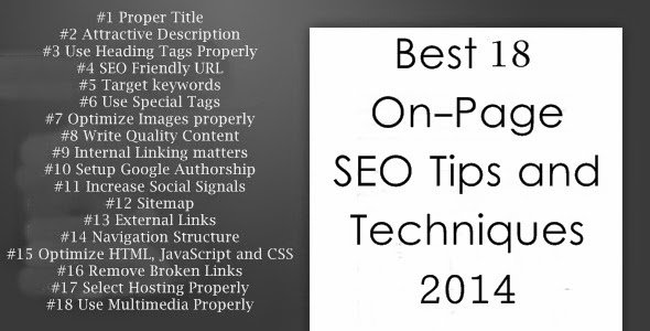 Best 18 On-Page SEO Tips and Techniques 2014