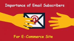 How Important Are Email Subscribers For an E-Commerce Site?