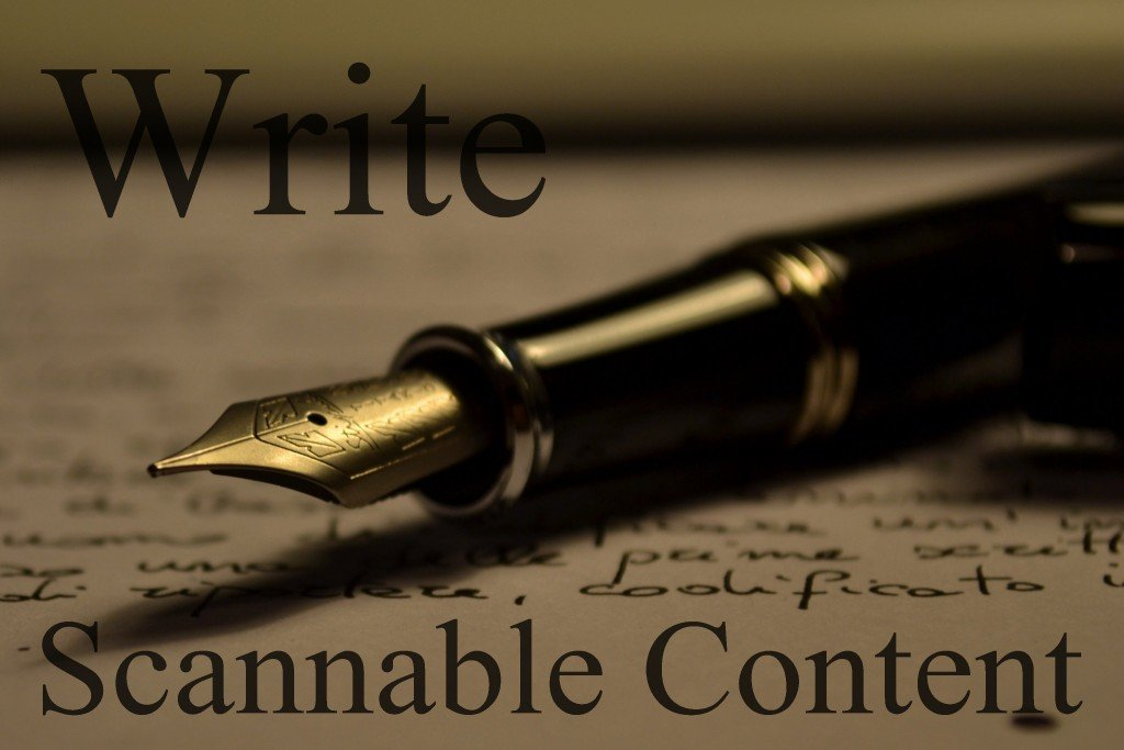 Write Scannable Content