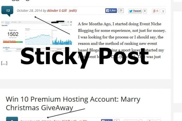 How To Make Sticky Posts In WordPress