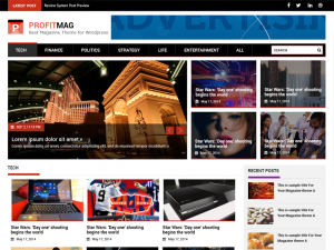 ProfitMag Responsive WordPress Theme –  A design that Attracts