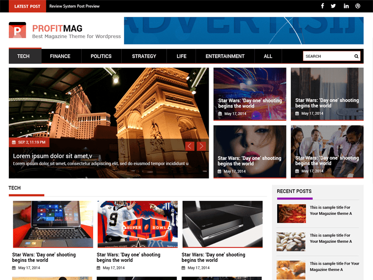ProfitMag Responsive WordPress Theme