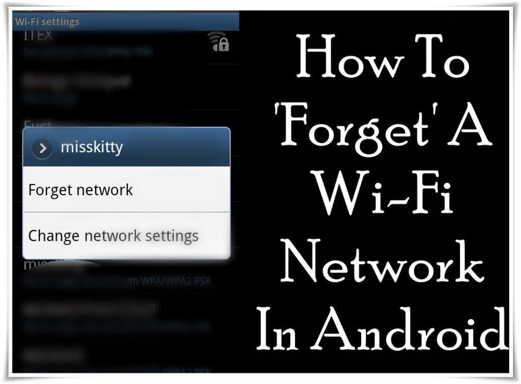How To Forget A Wi Fi Network In Android Onlyloudest