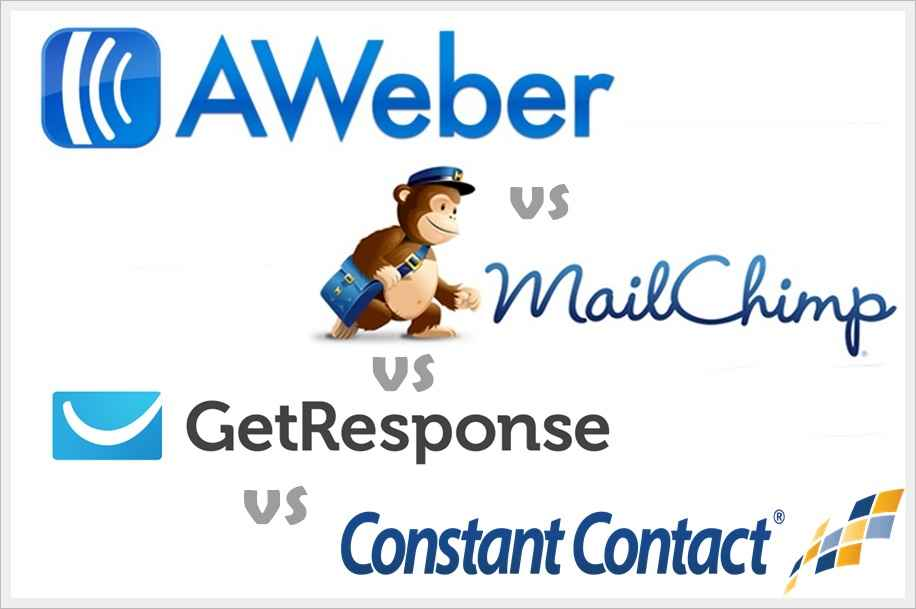 Comparison Between the best Email Marketing Platform: GetResponse Vs MailChimp Vs Aweber Vs Constant Contact.