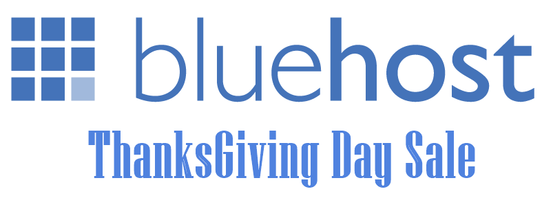 Bluehost ThanksGiving Day Sale