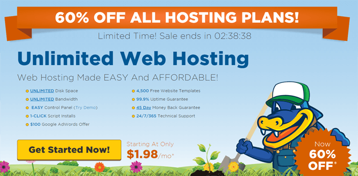 HostGator Flash Sale: 60% Off All Hosting Plans!