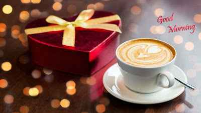 Romantic-morning-with-coffee-and-gift