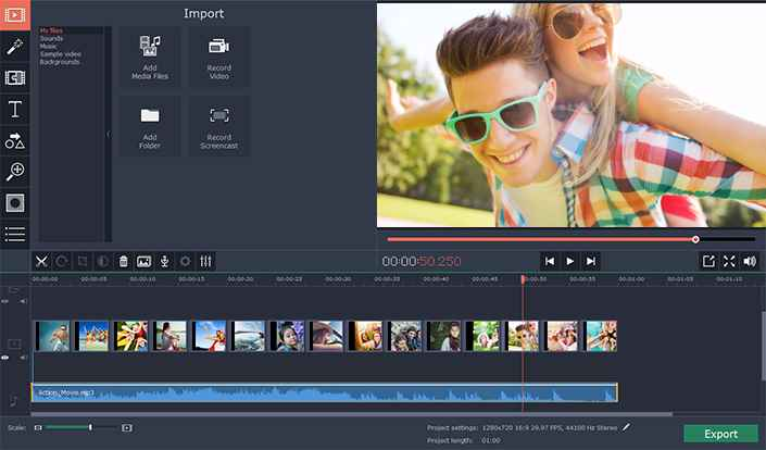 Adding Audio Tracks to Videos with Movavi Video Editor